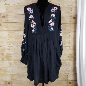 Free People Mia Floral Embroidered Dress